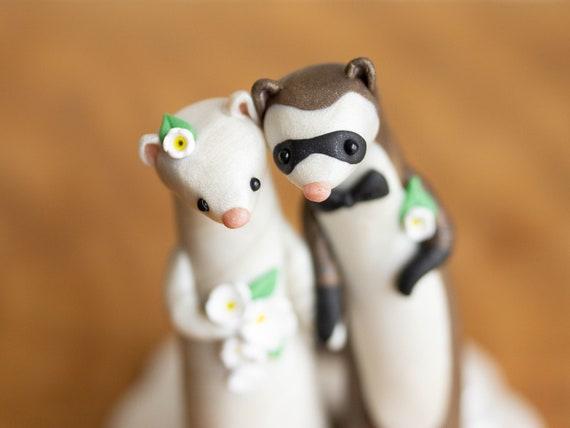 Ferret Wedding Cake Topper