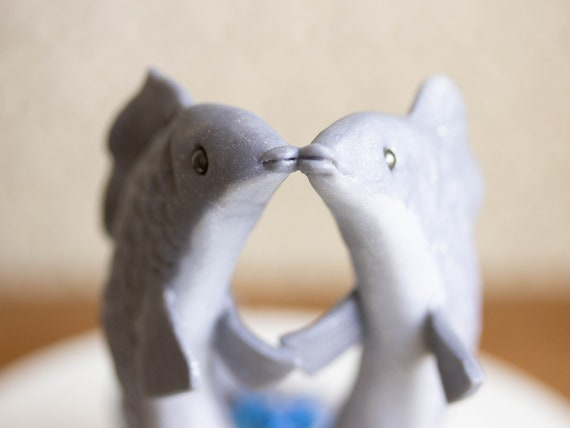 Fish Wedding Cake Topper - Pisces Cake Topper - Fish Sculpture