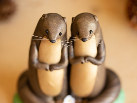 River Otter Love - River Otter Sculpture