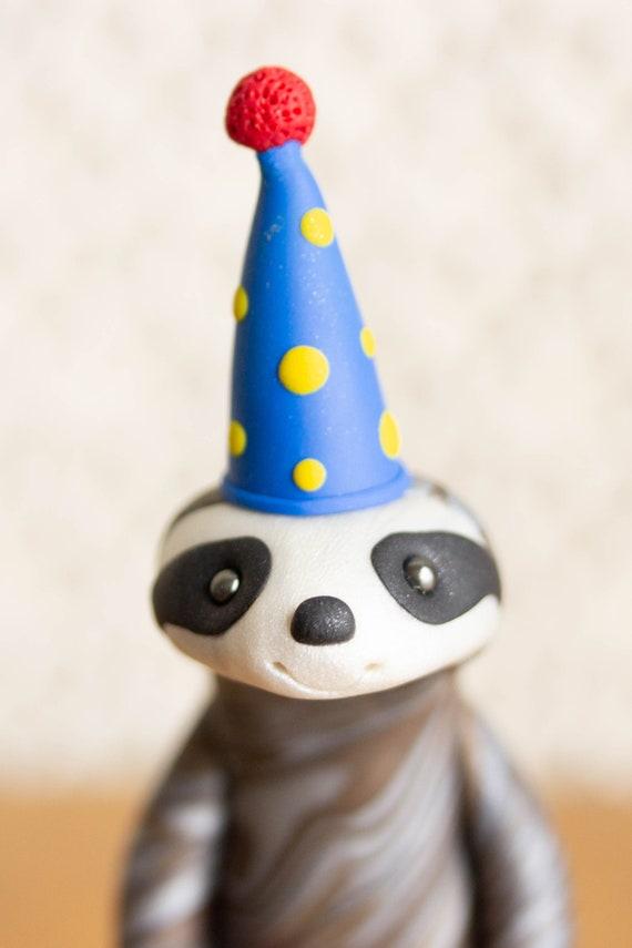 Sloth Birthday Cake Topper - Sloth Figurine - Sloth Sculpture