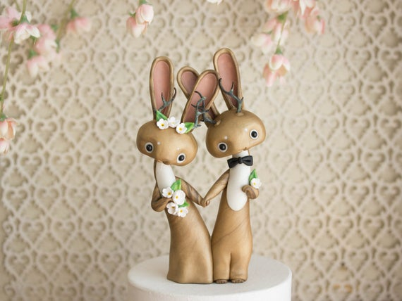 Jackalope Wedding Cake Topper