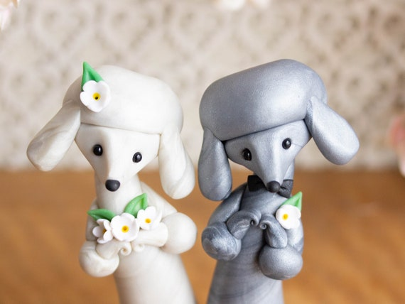 Poodle Wedding Cake Topper