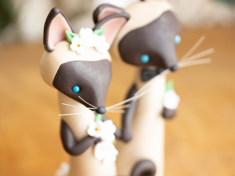 Siamese Cat Wedding Cake Topper Etsy
