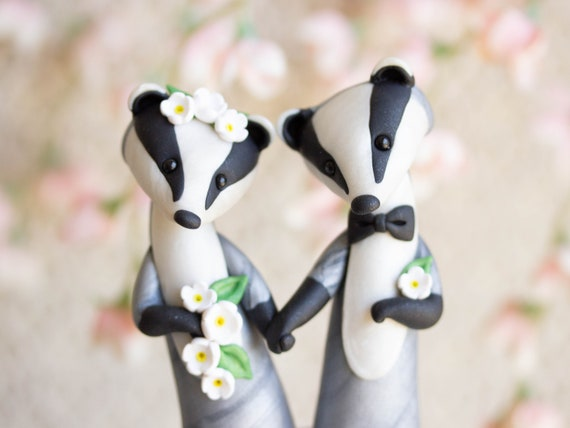 Eurasian Badger Wedding Cake Topper - Badger Sculpture