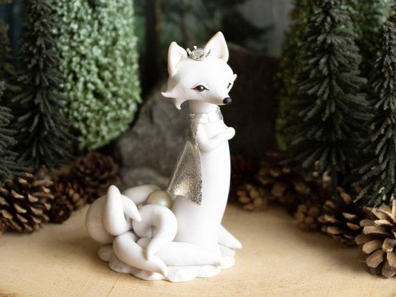 Winter Kitsune Fox - Nine-tailed Kitsune Fox - Fox Fairy