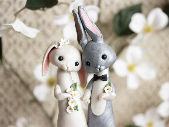 Bunny Rabbit Wedding Cake Topper