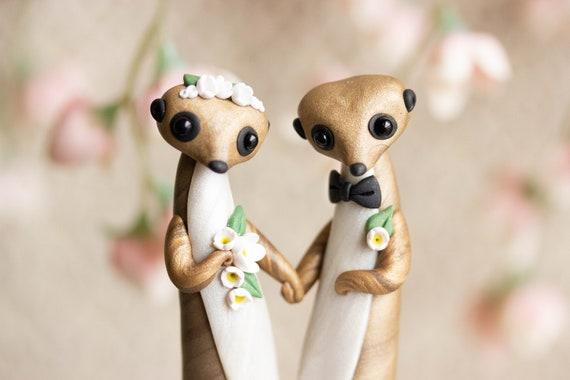 Meerkat Wedding Cake Topper