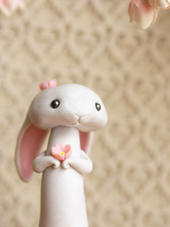 Sakura Gazing Lop Bunny Rabbit Figurine