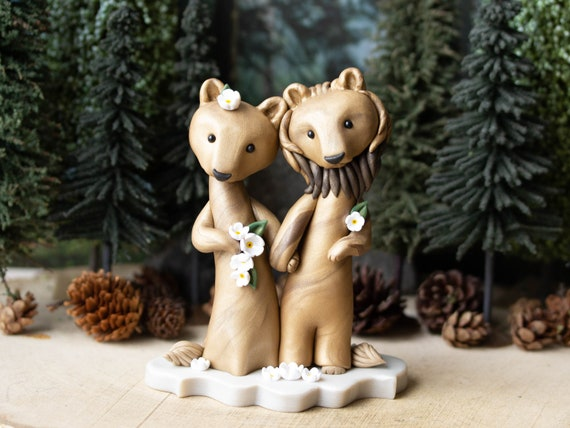 Lion Wedding Cake Topper