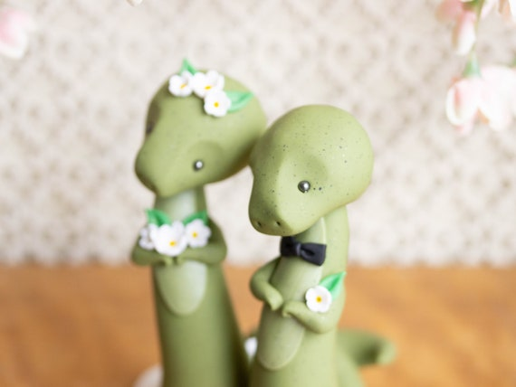 Dinosaur Wedding Cake Topper