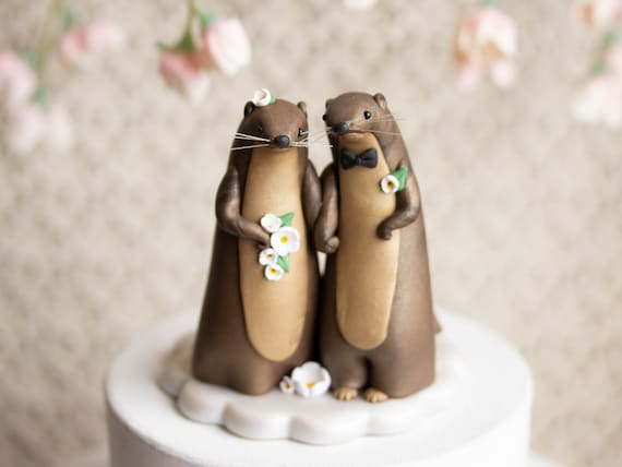 Otter Wedding - River Otter Cake Topper
