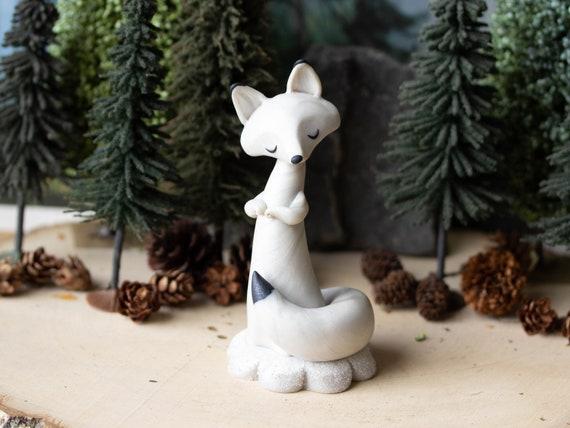 Wishing Fox - Arctic Fox Figurine