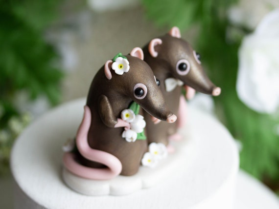 Sengi Shrew Wedding Cake Topper