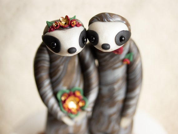 Custom Sloth Wedding Cake Topper