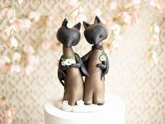 Bat Wedding Cake Topper - Flying Fox Bats