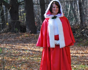 Mrs. Santa Claus, Capelet and Skirt