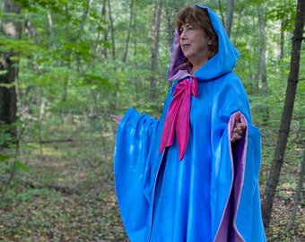 """Blue Fairy Godmother Costume 40"""" Cape and Skirt"""