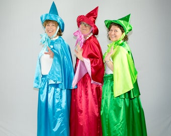 Sleeping Beauty Fairy Godmother, Red, Blue or Green