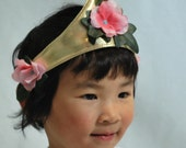 Metallic Gold Flower Fairy Princess Crown
