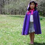 Girls Purple Cloak, Fairy Princess Viola