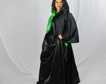 Wicked Witch Costume, Cape and Skirt Halloween