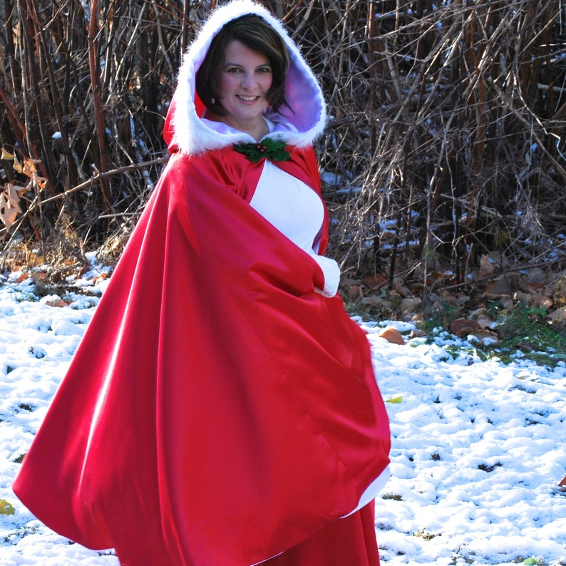 Mrs Claus Costume Cape Only image 0