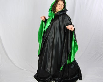 Wicked Witch, Women's Black Cape and Skirt, Halloween