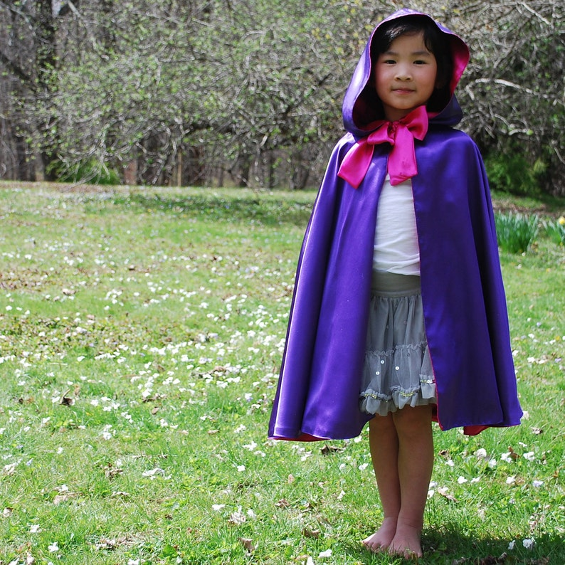 Girls Purple Cloak Fairy Princess Viola image 0