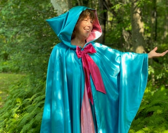 """Teal Fairy Godmother Costume 40"""" Cape and Skirt"""