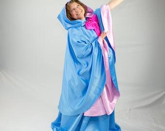 "Fairy Godmother Costume, Skirt & 40""Cape, Twilight Blue"
