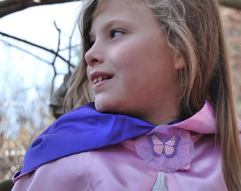 Girls Cape, Fairy Princess Butterfly, READY TO SHIP