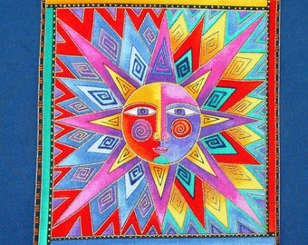 Laurel Burch 'Celestial Dreams' Fabric Applique*Handmade/196