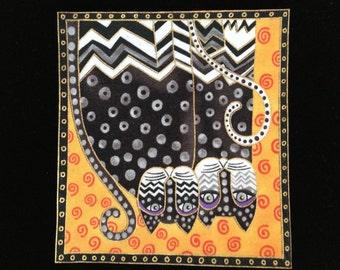 Laurel Burch Iron On CATS Applique*Gorgeous FEW LEFT/54