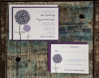 The Khea Hydrangea Invitation Suite