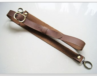 8909e7e82c4a 1 pcs 58 inch adjustable brown quality cow leather bag strap purse strap  with anti bronze lobster