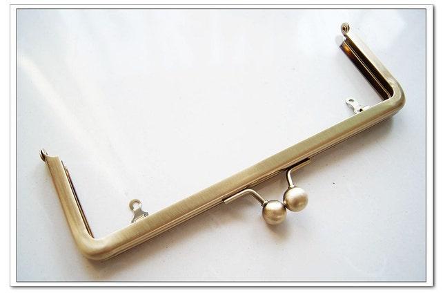 8 inch anti brass rectangle metal purse frame clutch frame | Etsy
