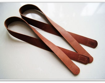2pcs of brown high quality cow leather purse handles purse straps handbag handles handbag strap