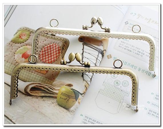 18cm rectanle carved oval beads metal purse frame bag frame | Etsy
