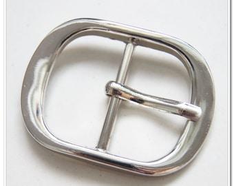 """6pcs 1.25 inch (32mm inside size),  alloy silver belt buckle strap buckel center bar buckle,1-1/4"""""""