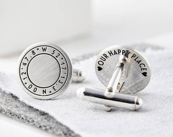 Custom Monogramm Circle Felt Cufflinks