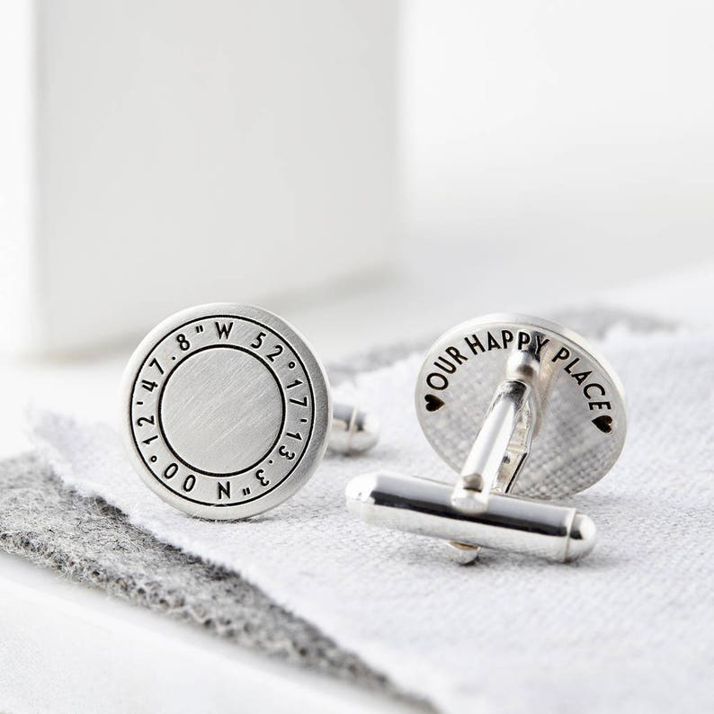 Wedding Cufflinks Custom Cufflinks Latitude longitude Engraved Cufflinks Keepsake Gift Engraved Coordinate Cufflinks Groom Cufflinks