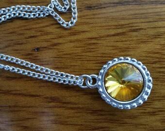 Swarovski Crystal Amber Necklace