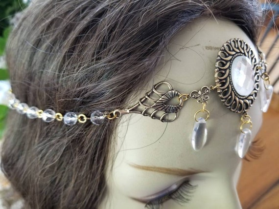 Pearlescent Circlet of the Renaissance Court elven bridal celtic druid cosplay