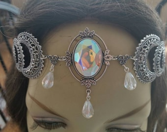 Shimmering Circlet of the Ice Queen celtic elven druid bridal