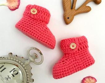 Short Crochet Baby Booties