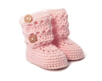 Eyelet Lace Knitted Baby Booties