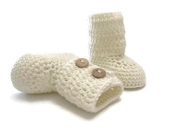 Tall Crochet Baby Booties
