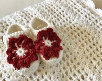 merino wool lace baby shawl blanket set