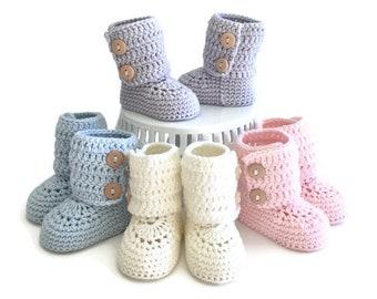 Baby Booties, Crochet Baby Booties, Baby Boots, Baby Shoes, Baby Ugg, Baby Girl, Baby Boy, Baby Shower Gift, Newborn Baby Gift Made to Order