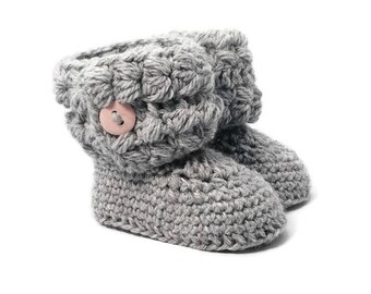 Cozy Cuff Crochet Baby Booties